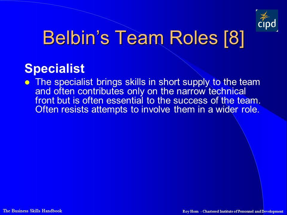 Belbin's Team Roles [8] Specialist